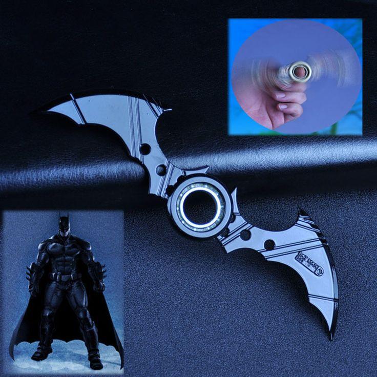 Batman Batarang Fidget Spinner Ring Alloy Tri Spinner ADHD Anti-Autism Kids Toy  #Unbranded
