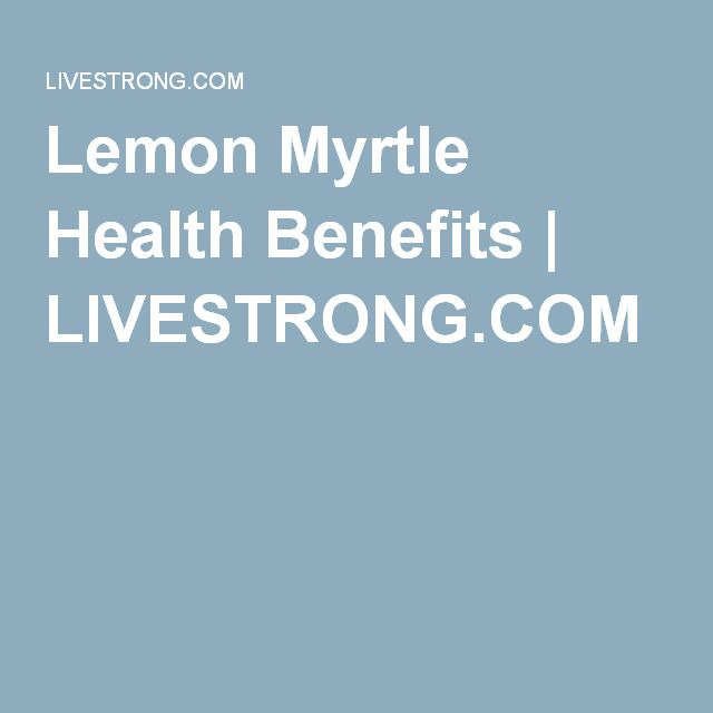 Lemon Myrtle Health Benefits | LIVESTRONG.COM