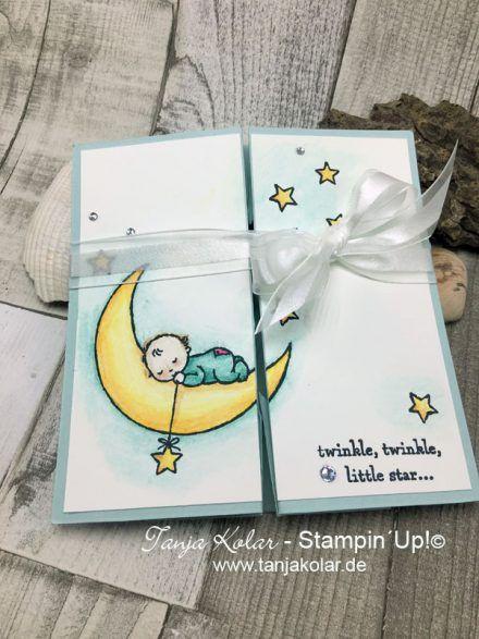 Stampin' Up! Moon Baby Fancy Fold's Blog Hop... Simple Box card -Tutorial Tanja Kolar