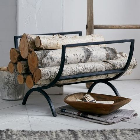 Whether you live in a cabin, cape, or a cottage, the streamlined design of this iron log holder makes it versatile enough for any indoor space.