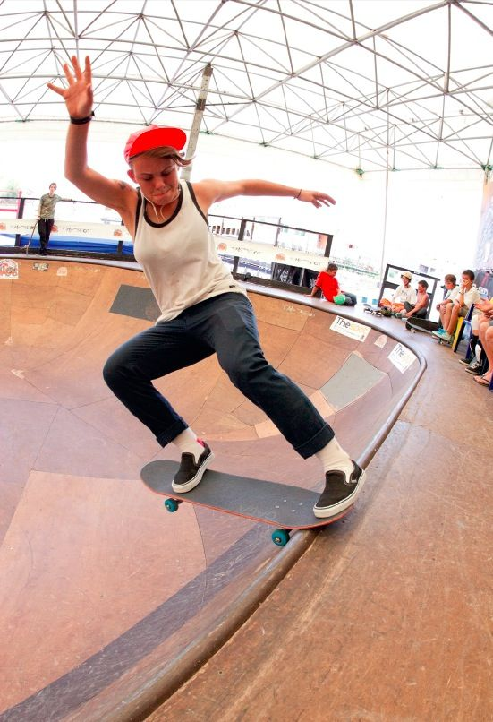 Lacey Baker.  This girl is a beast on a skateboard