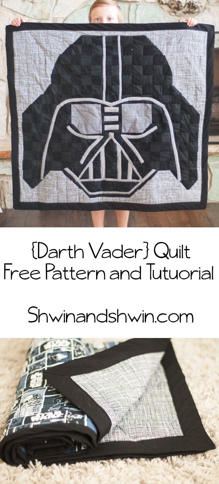 Darth Vader Quilt || Free Pattern