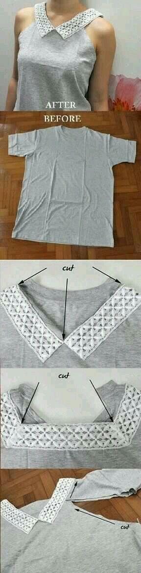 Upscale T-shirt to sleeveless shirt