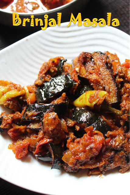 Baingan Masala Recipe / Fried Brinjal Masala Recipe