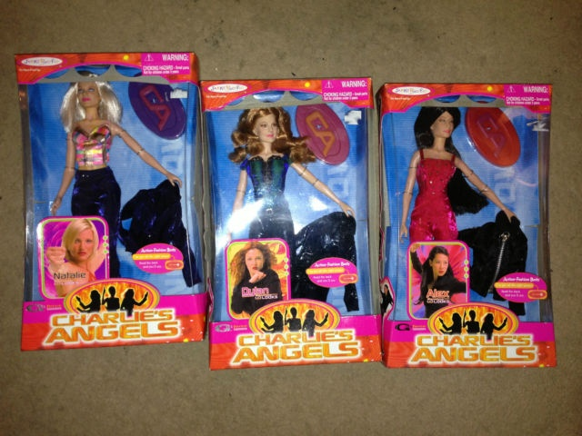 Charlies Angels dolls- Lucy Lue, Cameron Diaz and Drew Barrymore