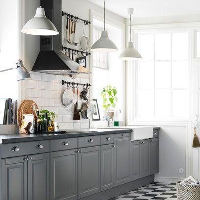 Updating the kitchen with a lick of paint and some new doorhandles?