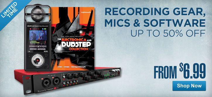 Cheap recording studio equipment for sale