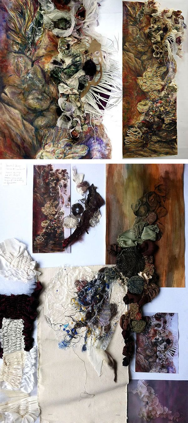 Fashion presentation / A Level Textiles: Beautiful Sketchbook Pages