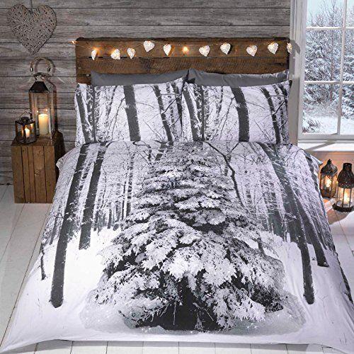 Es hora de celebrar ese momento especial del año, para los que viven en clima cálido esta ropa de cama va a crear esa escena de invierno mirada a su dormitorio. Se vende como 1 x funda nórdica y de almohada (s) Tamaño único incluye one almohada caja Todos los demás tamaños incluye dos