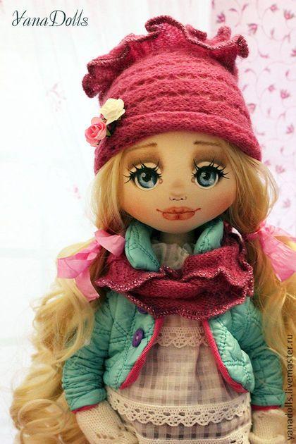 Лина - мятный,кукла,кукла ручной работы,кукла в подарок,кукла текстильная