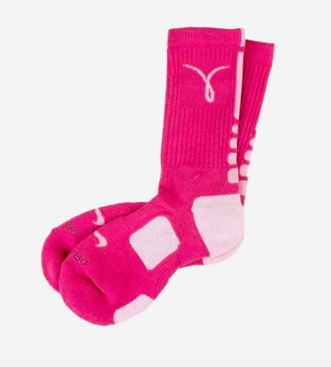 Nike ELITE CUSHIONED SOCKS - BREAST CANCER AWARENESS (PINK/WHITE) $16.00 GIRLS
