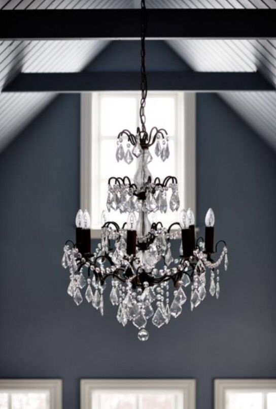 """This classic chandelier with a contemporary touch is from our feature """"Black Magic"""""""