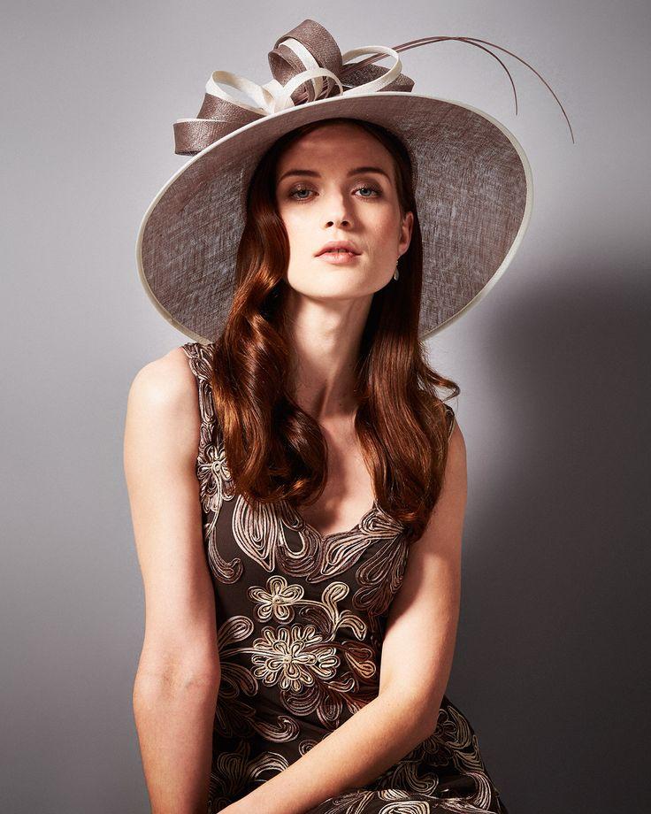 Hats & Fascinators   Neutral Leona Hat   Phase Eight