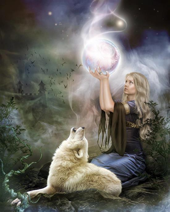 Arooooo...says the little wolf to his mistress.