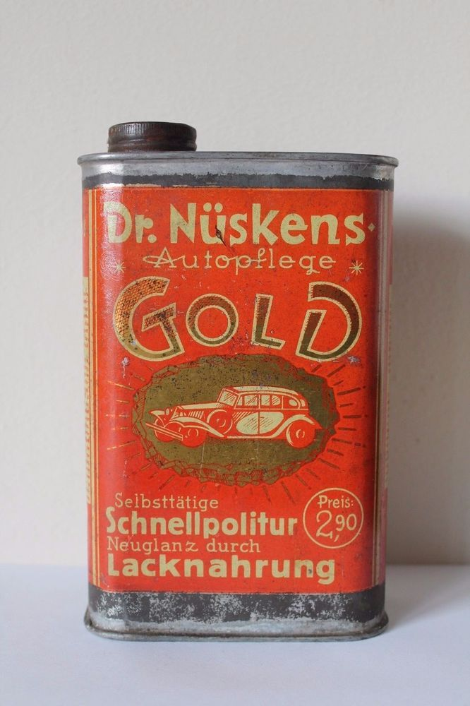 Rare, Antique Dr. Nüskens Car Polish Tin - Autopflege - Germany Motors Interest