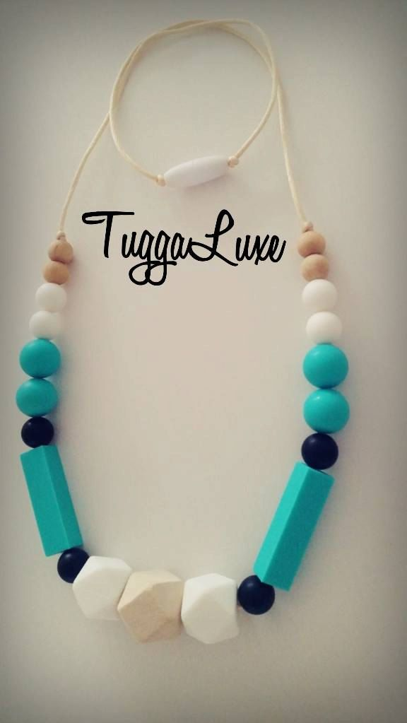 Barcelona / Free Delivery / Teething Necklace/ Modern / Silicone Beads / Mom / Mothers Day / Baby Shower Gift / Nursing Necklace / Fashion by TuggaLuxe on Etsy