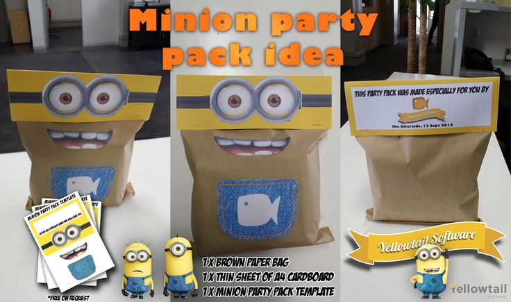 A Minion themed Kids Party Pack idea for the kids at our family braai (BBQ) day
