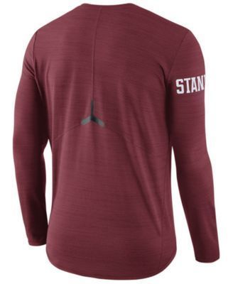 Nike Men's Stanford Cardinal Dri-Fit Breathe Long Sleeve T-Shirt - Red L