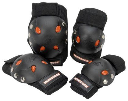 Mongoose BMX Bike Gel Knee and Elbow Pads to go with my cardiff skates I want to buy