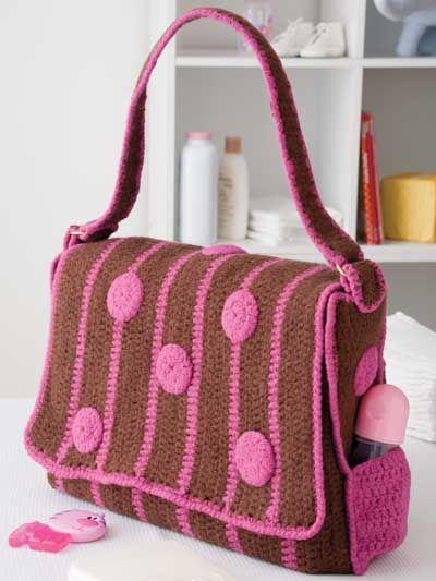 best 25 crochet diaper bag ideas on pinterest crochet baby stuff crochet tote and diy. Black Bedroom Furniture Sets. Home Design Ideas