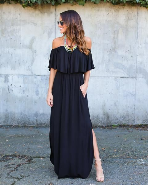 Vici Collection - Infinite Pocketed Strapless Maxi Dress Love this maxi dress for transitioning to summer, dress it up or down this dress is very versatile