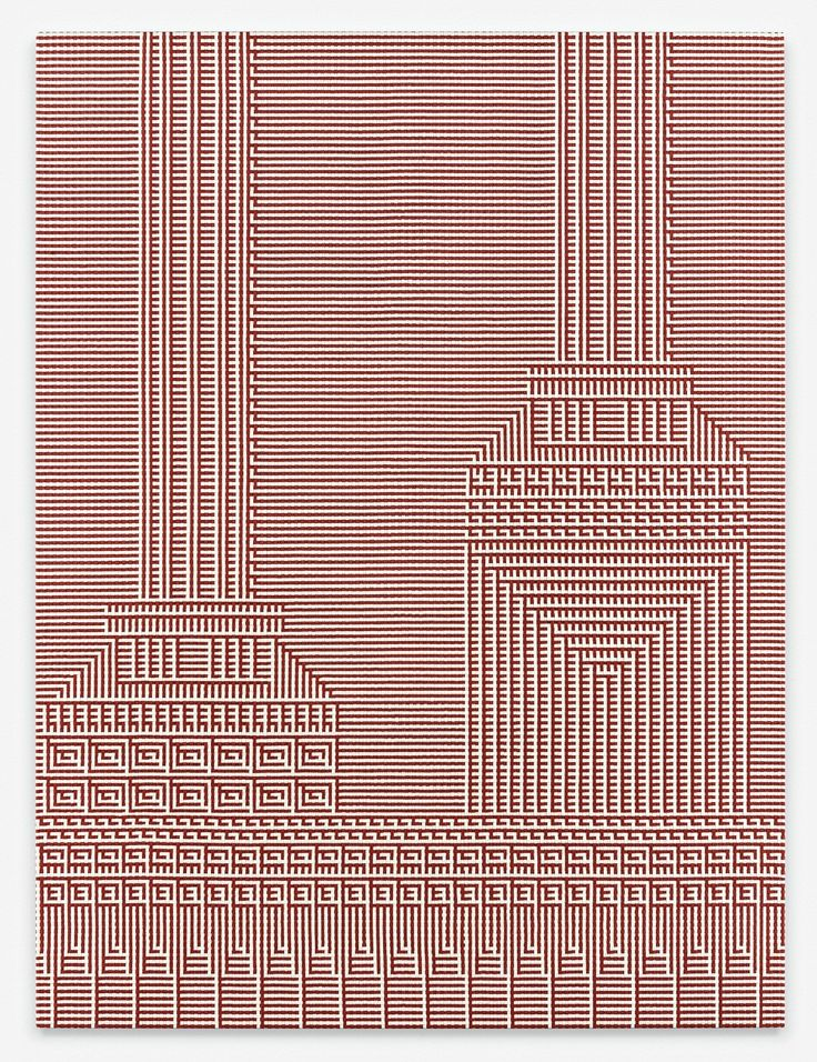 eccontemporary:  Tauba Auerbach, Support and Elevation I, 2015, woven canvas on wooden stretcher, 203,2 x 152,4 cmhttp://www.taubaauerbach.com/http://www.paulacoopergallery.com/http://www.standardoslo.no/