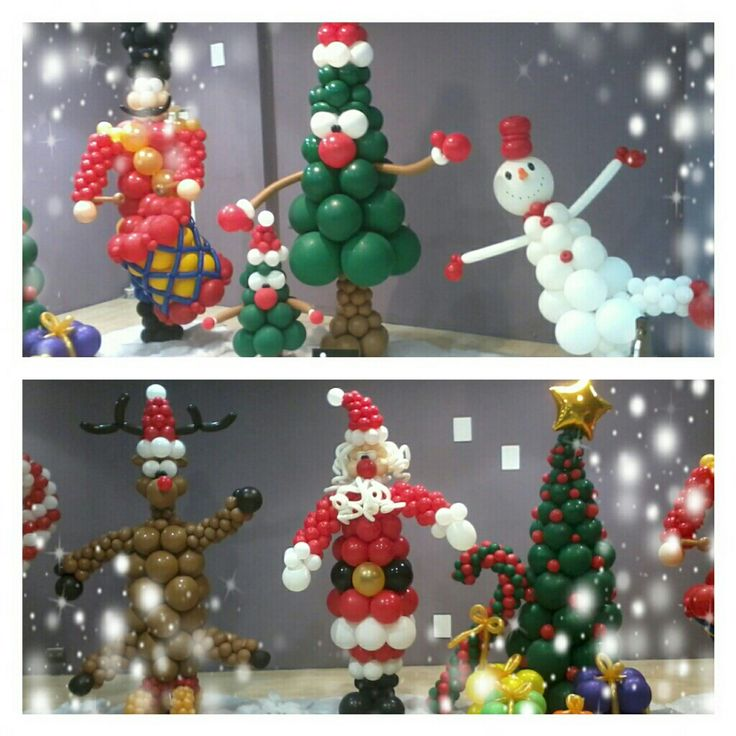 38 best christmas balloon decorations images on pinterest - Decoracion escaparates navidad ...