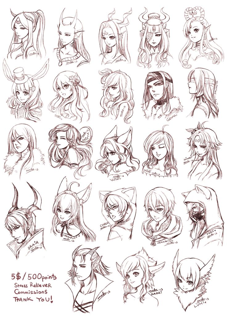 Anime Drawing of Elves and hiar styles by =omocha-san on deviantART
