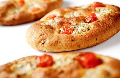Focaccia van olijvenbrood