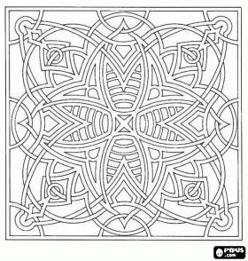 free printable abstract coloring pages for adults coloring pages mandala coloring - Coloring Pages Abstract Designs