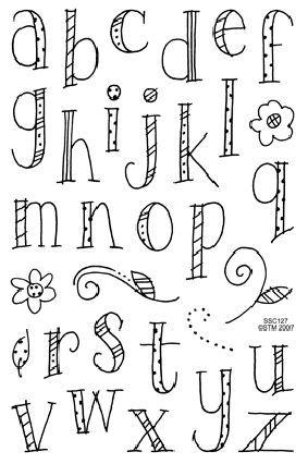 IMPRONTE DAUTORE - STAMPING - PRODOTTI - Timbri trasparenti - SSC127 Doodle Alphabet Lower
