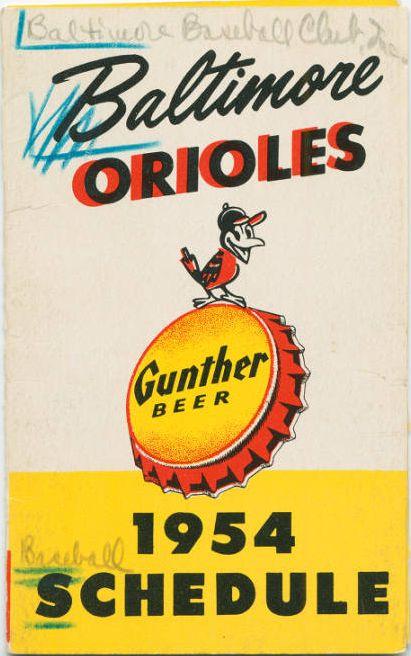 1954 Orioles schedule
