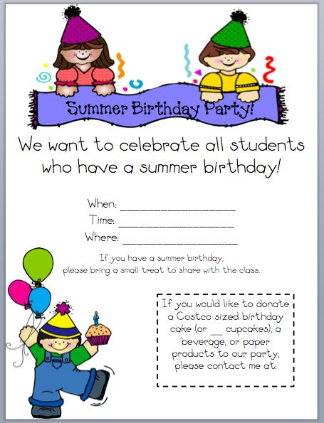 summer birthdays cute ideas pinterest classroom school and birthdays