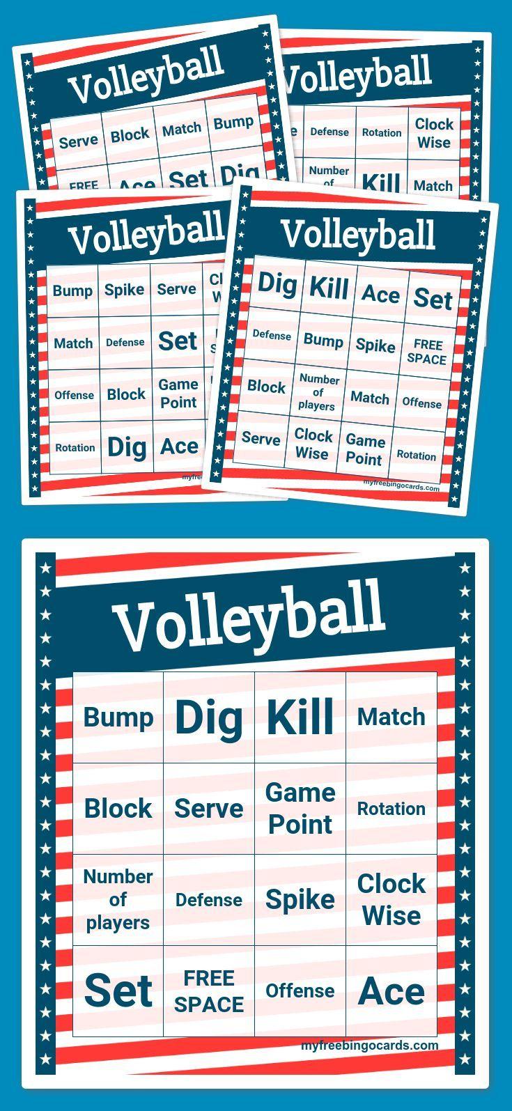 Volleyball Bingo Bingo Cards Free Bingo Cards Bingo [ 1595 x 735 Pixel ]