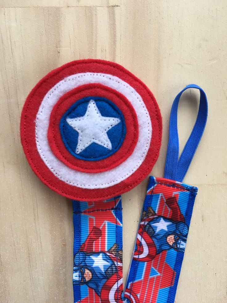 Pacifier Clip, Captain America, Chewy Tube Holder, Binky Clip, Binky Holder, Felt Pacifier Baby Shower Gift, Autism Awareness, Fabric by AUsomeThreadsShop on Etsy#babyshower #baby #babygift #pacifierclip #newmom #newborn #specialneeds #specialneedskids #handmade #cupcake #cupcakes #girl #superheros #superhero #boy #batman #superman #babyhero #captainamerica #justiceleague #autism #autismawareness #autismmom #autismdad #autismlife #chewytube #chewytubes #marvel
