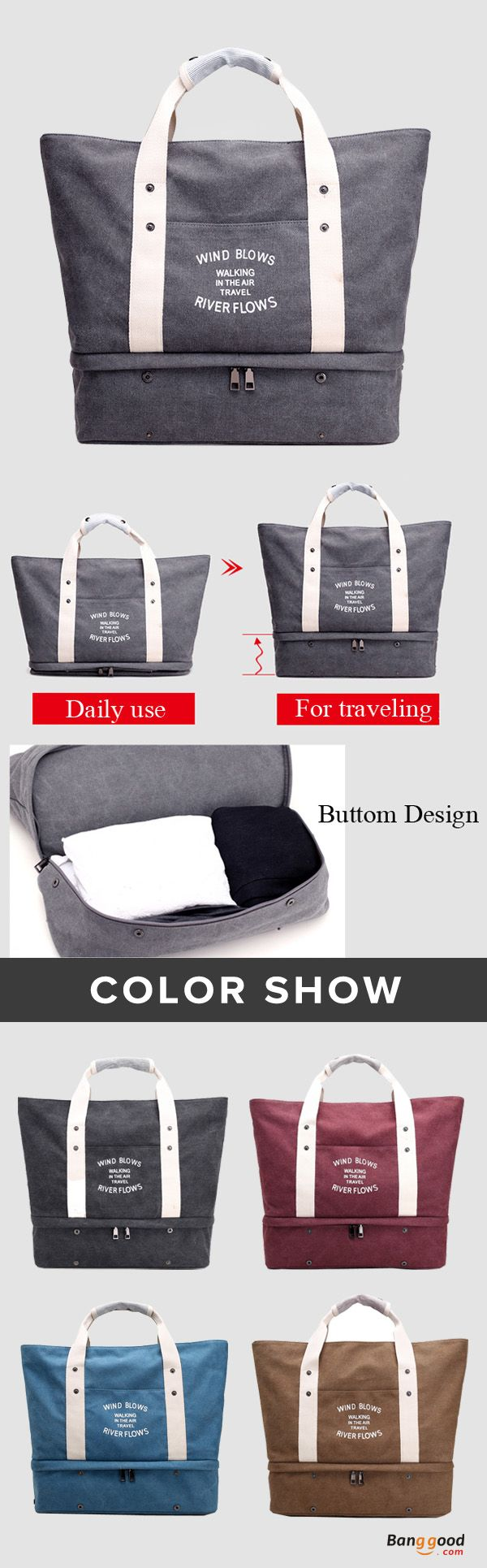 US$36.66+Free shipping. Women's Bag, Handbag, Travel Bag, Storage Bag, Quality, Canvas, Large Capacity. Color: Gray, Blue, Brown, Red, Dark Gray. Shop now~