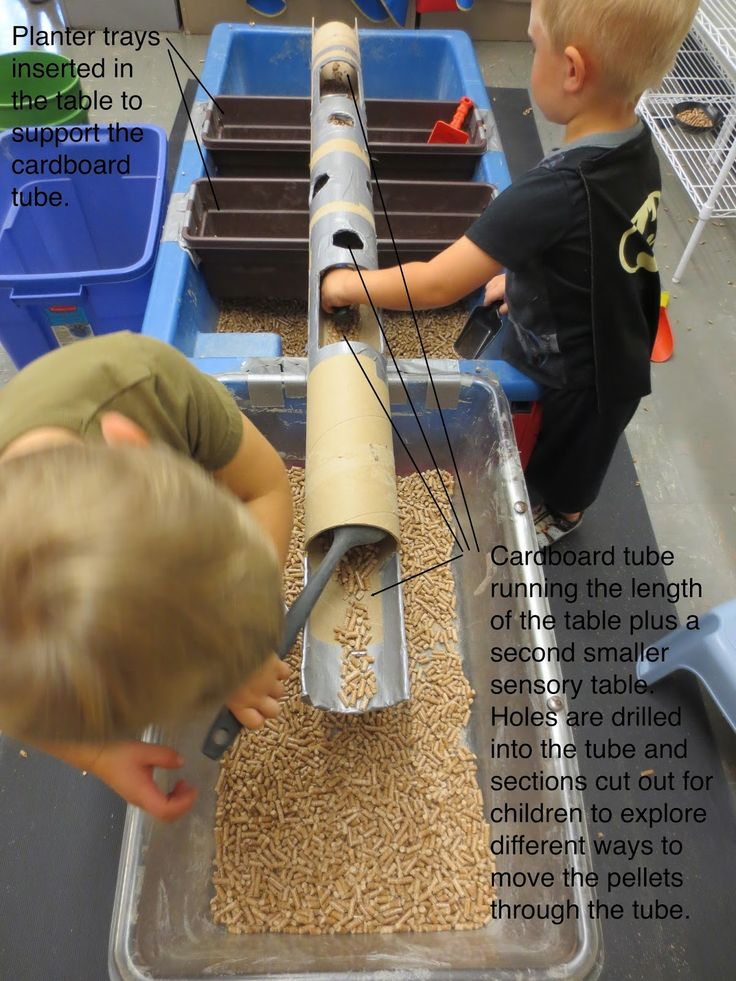 CARDBOARD TUBE AND TRAYS  :SAND AND WATER TABLES: