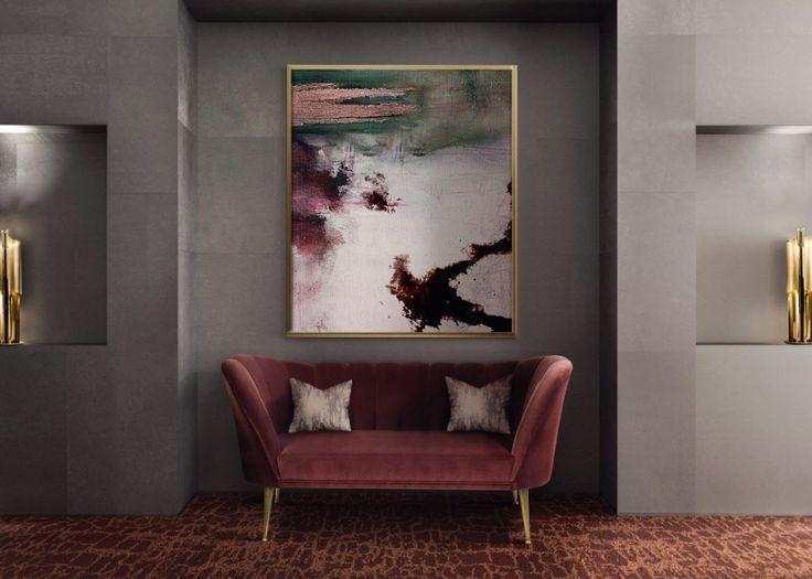 6 Tips On How To Decorate Around A Bold Velvet Sofa | Modern Sofas. Living Room Sofa. #velvetsofas #modernsofas Read more: http://modernsofas.eu/2017/07/10/tips-decorate-bold-velvet-sofa/