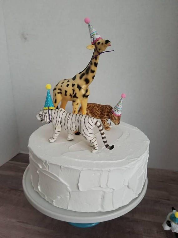 Safari Party Animal Cake Toppers/ 6 Piece Party Animal Set ...