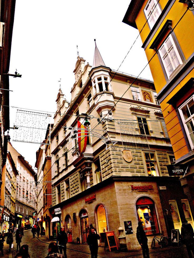 """Graz, Estiria (Austria)(el arte de las fachadas de Graz), Sporgasse/Färbergasse"" by Josef Lex you are the best...) on Flickr - City of Graz:  Historic Centre and Schloss Eggenberg, Austria"