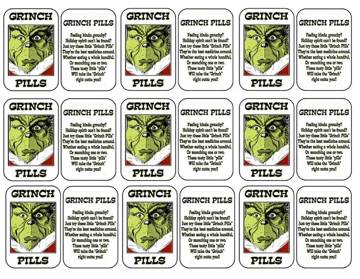 Grinch Pills printable by cplamond on 4shared.com