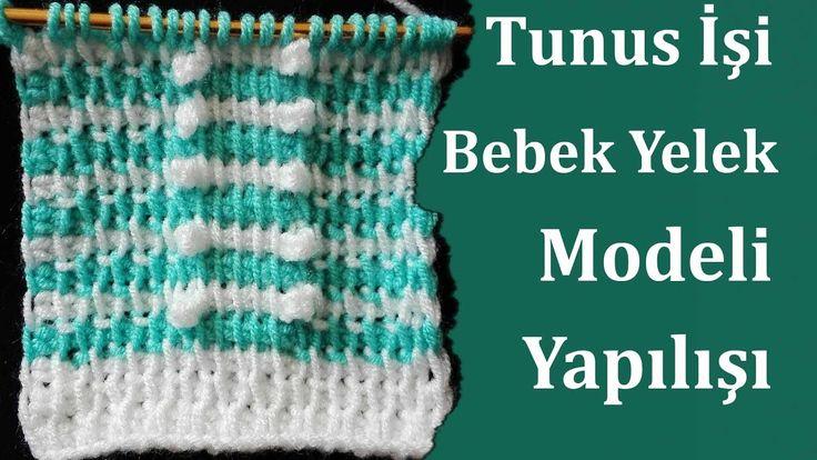 Tunus İşi Bebek Yelek Modeli Yapılışı