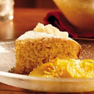 Citrus Ginger Cake with Spiced Orange Compote Recipe #Dessert #Recipe