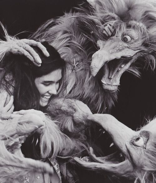 Labyrinth (1986): This movie marks the first time Kevin Clash played a major role in the Jim Henson Company playing a member of the Fire Gang. He later went on to be the puppeteer and voice of Elmo on Sesame Street.