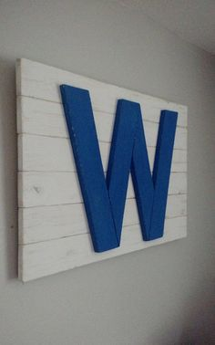 Handmade Chicago Cubs W Flag Chicago Flag by WindyCityWoodshop