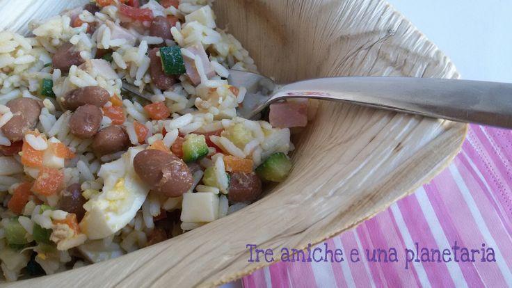 Insalata ricca di riso freddo