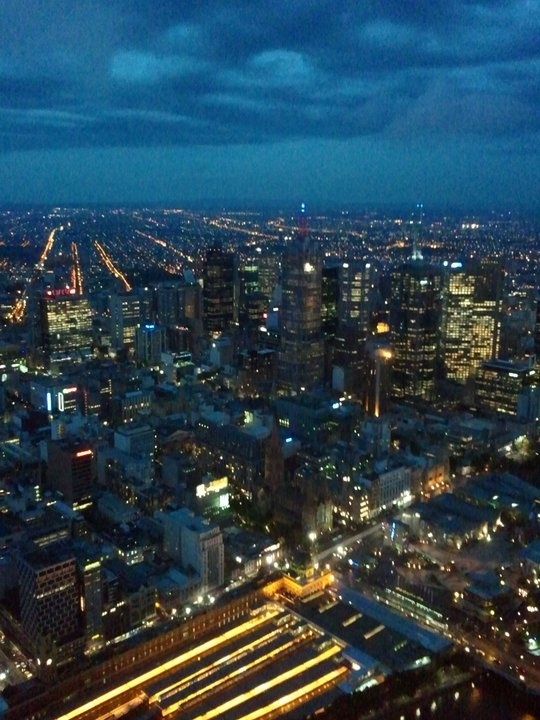 City of Melbourne at night - taken from atop the Eureka Tower