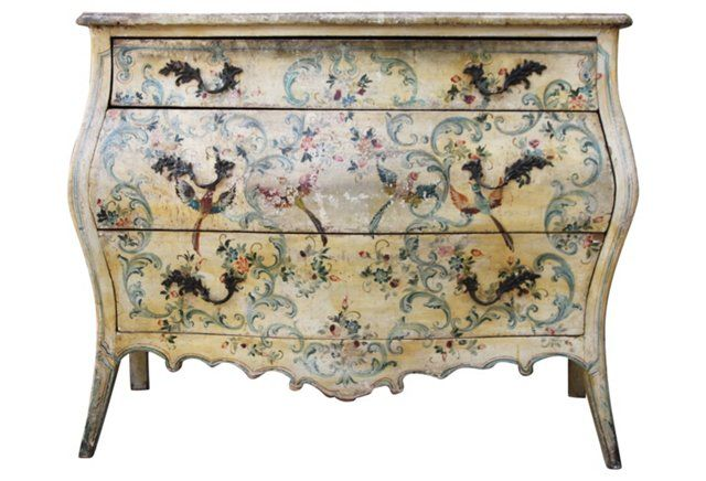 19th-C. Italian Painted Commode