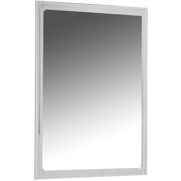 """Decor Wonderland 31.5"""" H x 23.6"""" W Frameless Tri Bevel Wall Mirror ($136) ❤ liked on Polyvore featuring home, home decor, mirrors, beveled wall mirror, frameless beveled mirror, beveled mirror, wall mounted mirror and interior wall decor"""