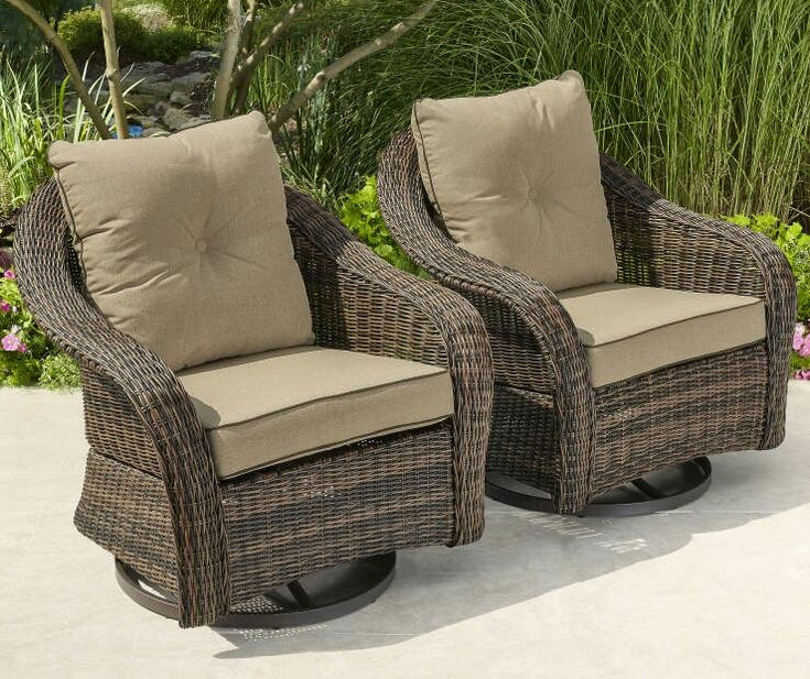 Lots Patio Chairs Furniture, Swivel Glider Outdoor Chair Set